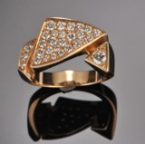 Diamond ring, approx. 0.61 ct., Melcher