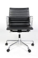Charles Eames. Office chair, Model EA 117, black leather