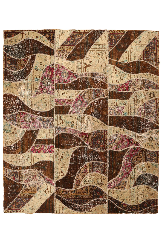Persisk patchwork tæppe, 288X243 cm - Persisk patchwork tæppe, fremstillet af ældre persisk tæppe fragmenter. 288X243 cm