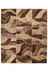 Persisk patchwork tæppe, 288X243 cm.