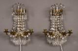 Ett par vägglystrar i gustaviansk stil(2)