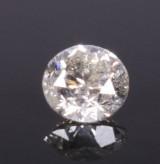 Uindfattet diamant, ca. 0.96 ct