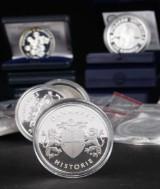 Danske Sølvmønter med 8 stk. 200 kroner m.m. (18)