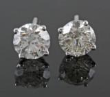 18kt. diamond stud earrings approx. 2.00ct (2)