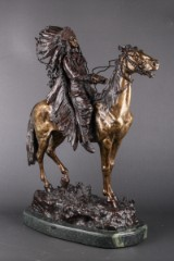 Carl Kauba. Bronze sculpture. 'Indian Chief'