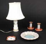 Dahl Jensen, stager, bordlampe m.m., porcelæn (5)