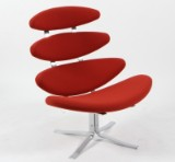 Poul M. Volther. 'Corona' lounge chair, Model EJ 5, wool