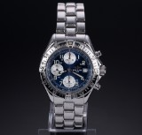 Breitling 'Colt Chronograph' men's watch, steel, deep-blue dial, 1990's