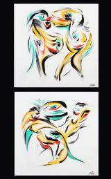 Per Eli. Et par malerier, akryl på lærred (2)