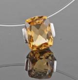 Citrine pendant, 14kt. white gold, 2.83ct.