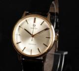 Omega vintage herrearmbåndsur af gulddoublé
