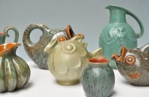 keramik bornholm Slutpris för Samling keramik, Michael Andersen Bornholm keramik bornholm