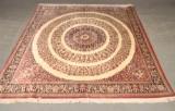 Persian carpet, Ghom, silk on silk warp, 257 x 244 cm