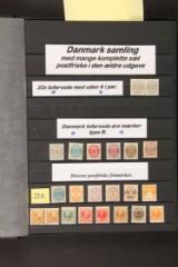 Frimærkesamling danmark postfrisk/ustemplet med flere bedre mærker samt varianter