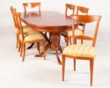 Udtræksbord kirsebærfiner med 6 stole (7)