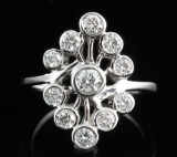 Diamond ring in 18kt approx. 1.01ct, By Kapriss