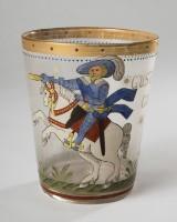 Historicistisk stil glas/bæger, Gustav 2. Adolf af Sverige, Fritz Heckert, 1800-tallet