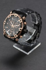 Bisset of Switzerland. Model Concordia Black/gold. Swiss made