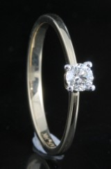 14kt diamond solitaire ring approx. 0.20ct