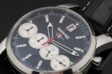 Eberhard & Co. 'Chrono 4'. Men's chronograph, steel with black dial