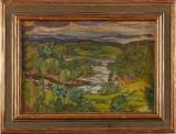 Helmer Osslund, Landskap med gård och vattendrag