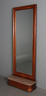 Entremøbel i mahogni. Konsol samt spejl. (2)