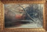 LINDSTRÖM Arvid Mauritz, oljemålning på duk