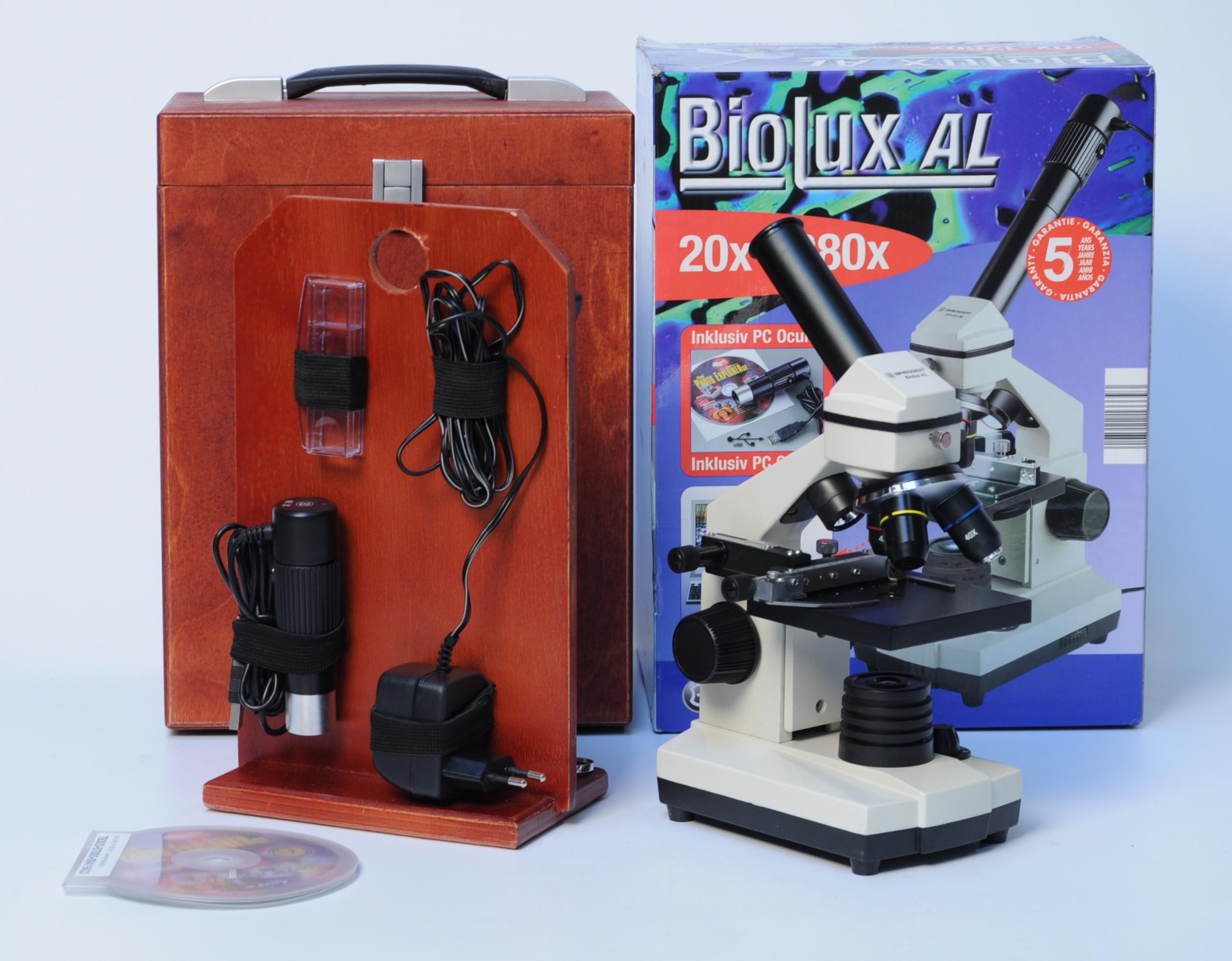 Mikroskop mrk bresser biolux al i opbevaringskasse denne vare er