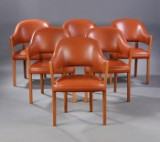 Ole Wanscher. A set of six lounge chairs, Model J-2987 (6)