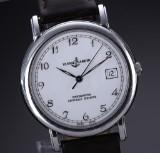 Ulysse Nardin 'San Marco' men's watch, steel, white dial with date, 1990's