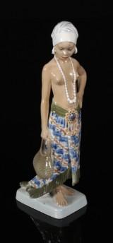 Dahl Jensen, 'Pige fra Sierra Leone', figur, porcelæn