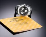 Breitling 'Colt Chronograph'. Herrenuhr aus Stahl mit schwarzem Zifferblatt - Zert. 2005