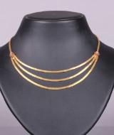 Halskæde, 18 kt guld, rubiner