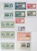 DK 500 og 1.000 kr. sedler, 6 stk.