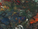 Henrik Westergaard. Komposition. Mixed media på lærred