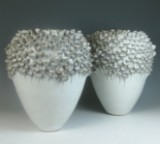 Pair of vases after a design by  Ellen Borst for GUTZZ