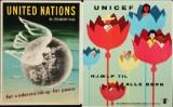 To små plakater for FN, offsettryk, 1940-50'erne (2)