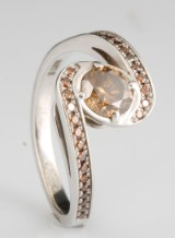 14kt brown diamond ring approx. 0.70ct, by S.T.diamond