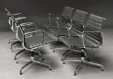 Charles Eames. A set of six armchairs, model EA-108 (6)