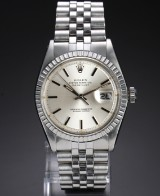 Rolex 'Datejust' men's watch, steel, silver-coloured dial, cc. 1977