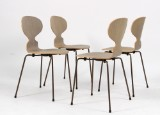 Arne Jacobsen. A set of four chairs, model 3101 'The Ant' oak. Limited edition. (4)