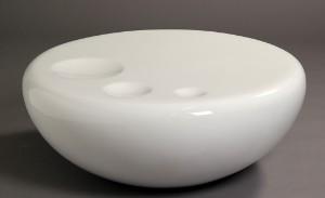Slutpris för Rund sofabord i hvid højglans