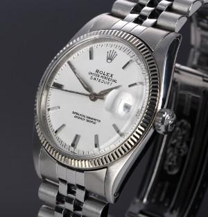 Nye og brugte herreure - Rolex, Cartier, Omega, Breitling - Rolex 'Datejust'. Vintage herreur i ...