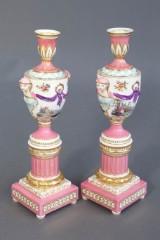 KPM, two cassolettes, porcelain (2)