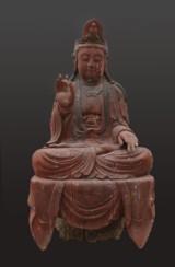 Buddha, China, 19th century. Painted wood