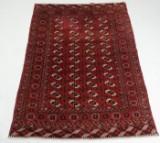 Turkmensk tæppe, 222x156 cm.
