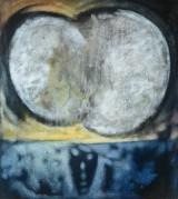 Ubekendt kunstner, akryl på lærred, komposition