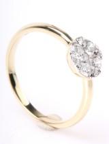 Diamantring, 14 kt guld, ca. 0.49 ct.