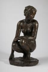 Fritz Klimsch, sculpture/figure, 'Hockende', bronze