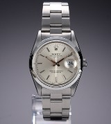 Rolex 'Date'. Herreur i stål med sølvfarvet skive, ca. 1994